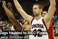 Zags Headed to WCC Finals