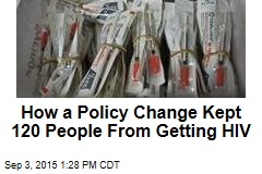 How a Policy Change Kept 120 People From Getting HIV