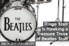 Ringo Starr Is Hawking a Treasure Trove of Beatles Stuff