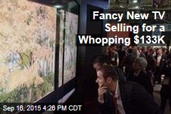 Fancy New TV Selling for a Whopping $133K