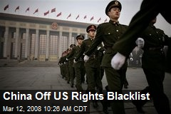 China Off US Rights Blacklist