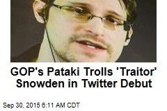 GOP Candidate Wants Twitter to Ban Snowden