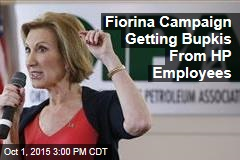 Fiorina Campaign Getting Bupkis From HP Employees