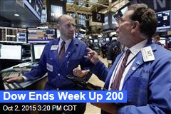 Dow Ends Week Up 200
