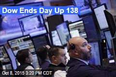 Dow Ends Day Up 138