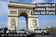 Decades of James Bond Cars Hit Paris