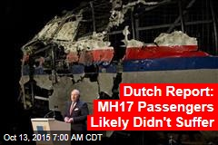 Dutch Report: MH17 Passengers Likely Didn't Suffer