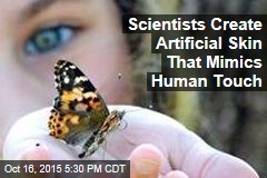 Scientists Create Artificial Skin That Mimics Human Touch