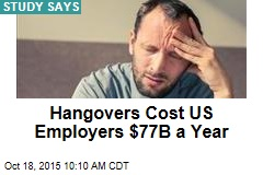 Hangovers Cost US Employers $77B a Year