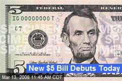 New $5 Bill Debuts Today