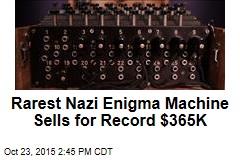 Rarest Nazi Enigma Machine Sells for Record $365K
