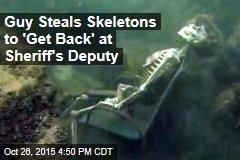 Diver Steals River Skeletons to Get Back at Sheriff's Deputy