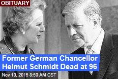 Former German Chancellor Helmut Schmidt Dead at 96