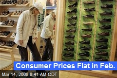 Consumer Prices Flat in Feb.