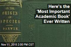 Group Names Most Important Academic Book Ever Written