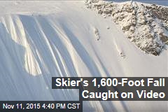 Skier's 1,600-Foot Fall Caught on Video