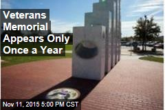 Veterans Memorial Appears Only Once a Year