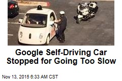 Google Self-Driving Car Stopped for Going Too Slow