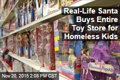 Real-Life Santa Buys Entire Toy Store for Homeless Kids