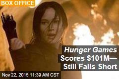 Hunger Games Scores $101M— Still Falls Short