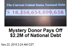 Mystery Donor Pays Off $2.2M of National Debt