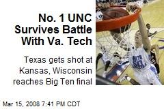 No. 1 UNC Survives Battle With Va. Tech