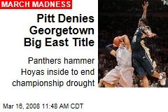 Pitt Denies Georgetown Big East Title