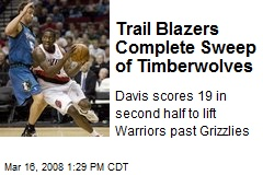Trail Blazers Complete Sweep of Timberwolves