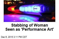 Art-Show Stabbing Seen as 'Performance Art'