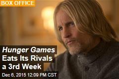 Hunger Games Eats Its Rivals a 3rd Week