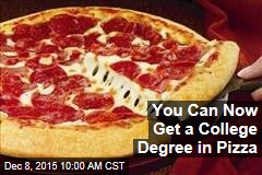 You Can Now Get a College Degree in Pizza