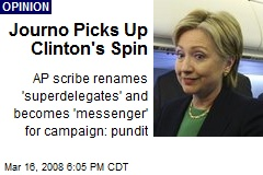 Journo Picks Up Clinton's Spin