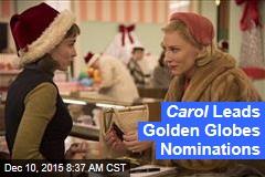 Carol Leads Golden Globes Nominations