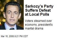 Sarkozy's Party Suffers Defeat at Local Polls