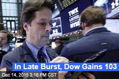 In Late Burst, Dow Gains 103