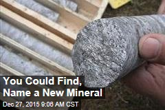 You Could Find, Name a New Mineral