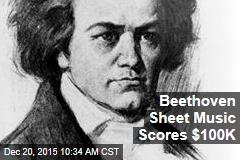 Beethoven Sheet Music Scores $100K
