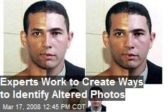 Experts Work to Create Ways to Identify Altered Photos