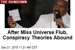 After Miss Universe Flub, Conspiracy Theories Abound