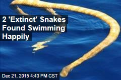 2 'Extinct' Snakes Found Swimming Happily