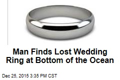 Man Finds Lost Wedding Ring at Bottom of the Ocean