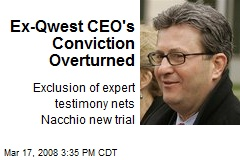Ex-Qwest CEO's Conviction Overturned