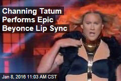 Channing Tatum Performs Epic Beyonce Lip Sync