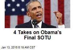 4 Takes on Obama's Final SOTU