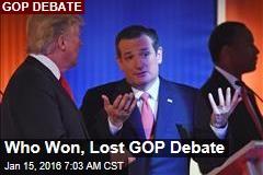 Who Won, Lost GOP Debate