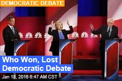 Who Won, Lost Democratic Debate