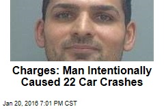 Charges: Man Intentionally Causes 22 Car Crashes