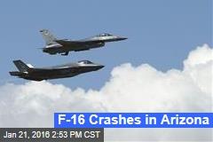 F-16 Crashes in Arizona