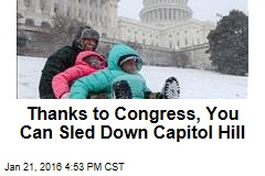 Thanks to Congress, You Can Sled Down Capitol Hill