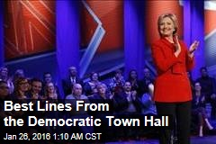 Best Lines From the Democratic Town Hall
